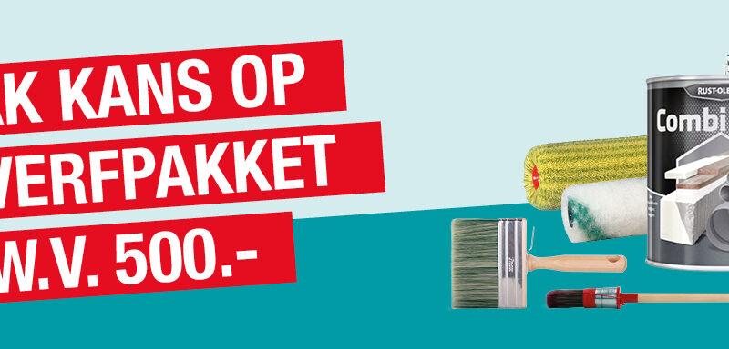 HVZ Maakt Kans Op Een Verfpakket T.w.v. €500,- Bij Pont Meyer